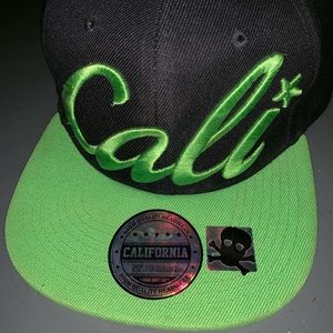 CALI SnapBack Bright Green w/ Cali under Bill